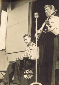 Busking with Bruce Clarke in Bray - June 1949